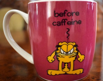 Garfield Before and After Caffeine Mug