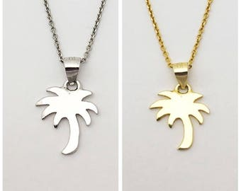 Vermeil Silver and Gold palm necklace