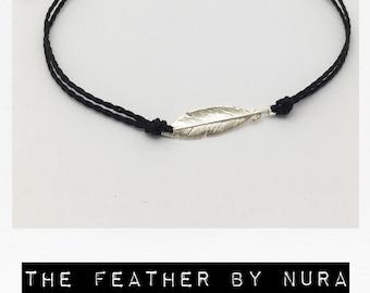 Silver Feather Bracelet