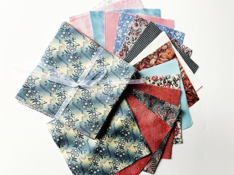 Charm pack fabric bundle rustic country farmhouse decor blue image 0