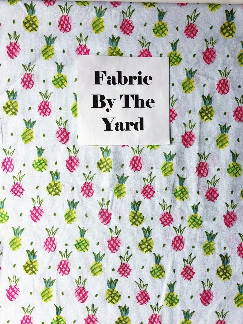 Fabric by the Yard  Pineapple Fabric  Quilting Cotton  image 0