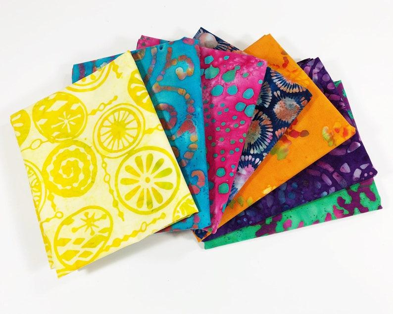 Fat Quarter Bundle Sale  Batik Fabric  Crafter Gift  Cotton image 0