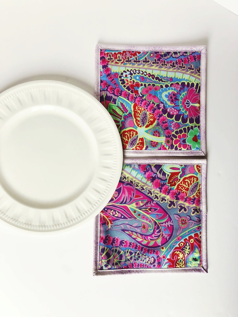 Kaffe Fassett Fabric Pot Holder  Set of 2  Foodie Gift  image 0