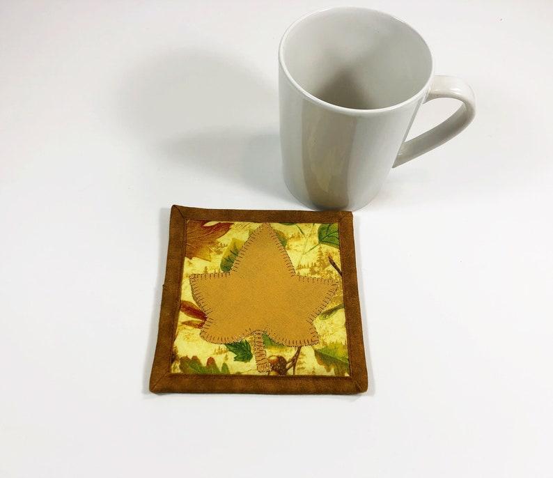 Mug Rug for Sale  Maple Leaf Coaster for Drinks  Farmhouse image 0