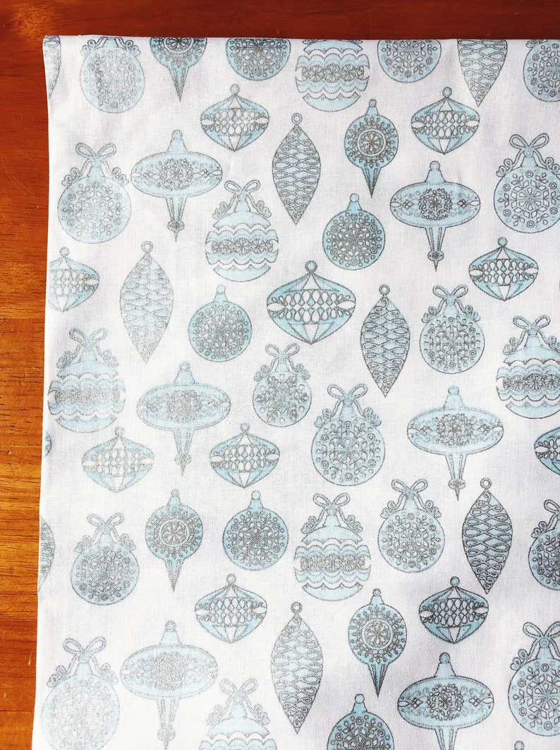 Fabric by the Yard  Nordic Retro Holiday  Christmas Sparkle image 0