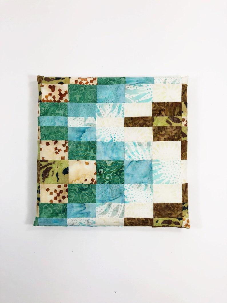 Fabric Wall Art  Wall Hanging  Batik Home Decor  Earth Tone image 0