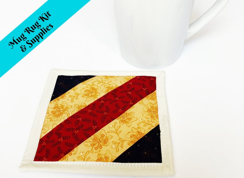Quilt Kits for Sale  Mug Rug Pattern and Kit  Craft Kit for image 0