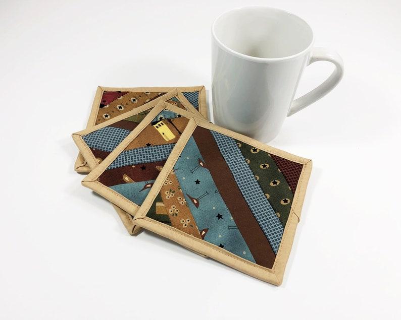 Cotton Fabric Coaster  Mug Rug for Sale  Farmhouse Country image 0