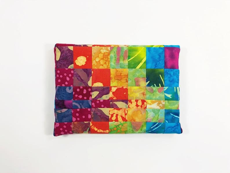 Fabric Canvas Art  Wall Art  Wall Hanging  Batik Home Decor image 0