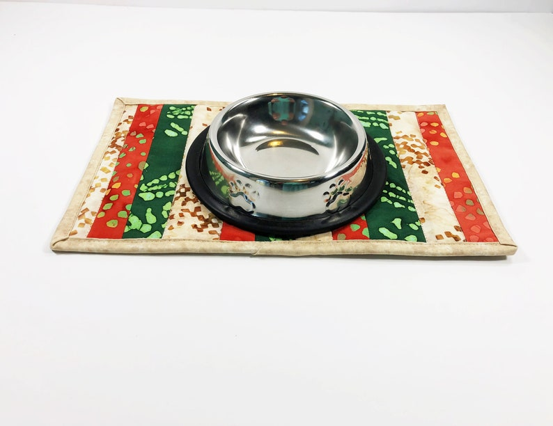 Cat Quilted Placemat  Pet Food Mat  Feline Products  Cat image 0