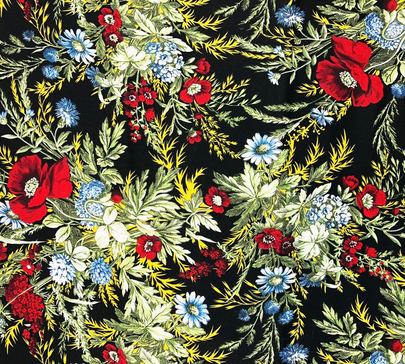 Fabric by the Yard  Floral Decor  Flower Theme  Quilting image 0