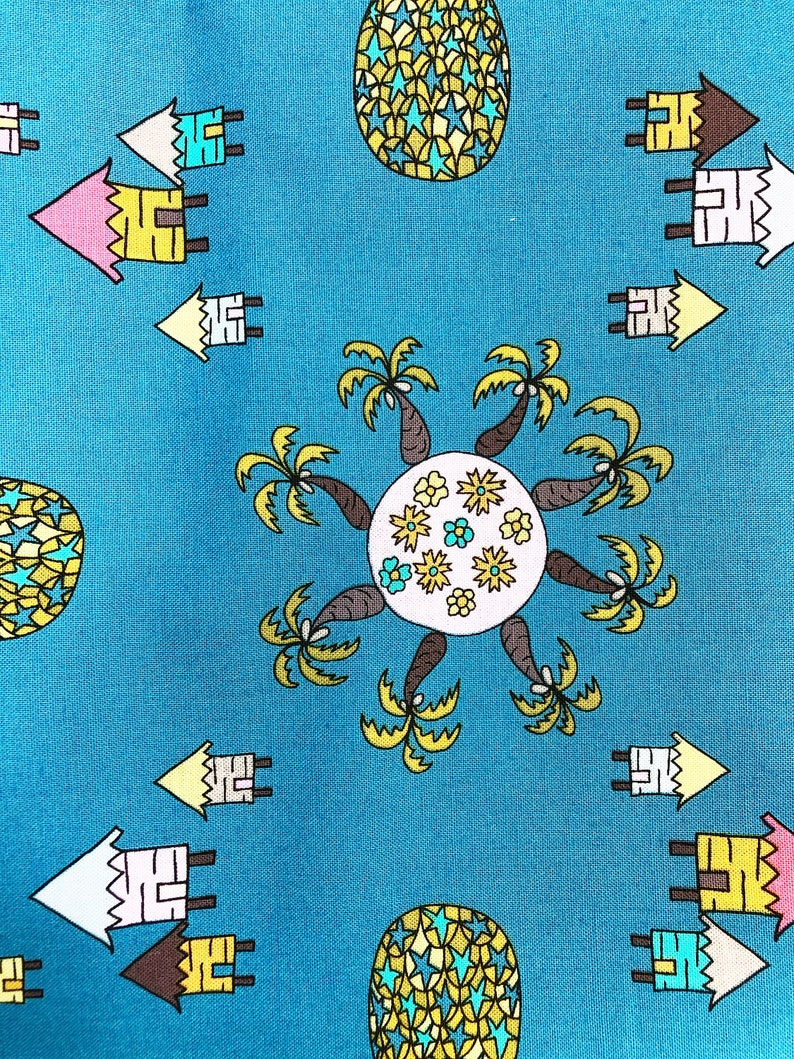 Fabric by the Yard  Pineapple Decor  Tropical Theme  image 0