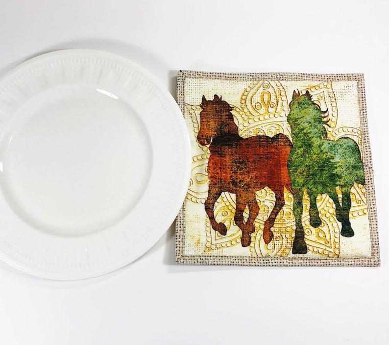 Equestrian Gift  Horse Lover Potholder  Pot Holder  Hot Pad image 0