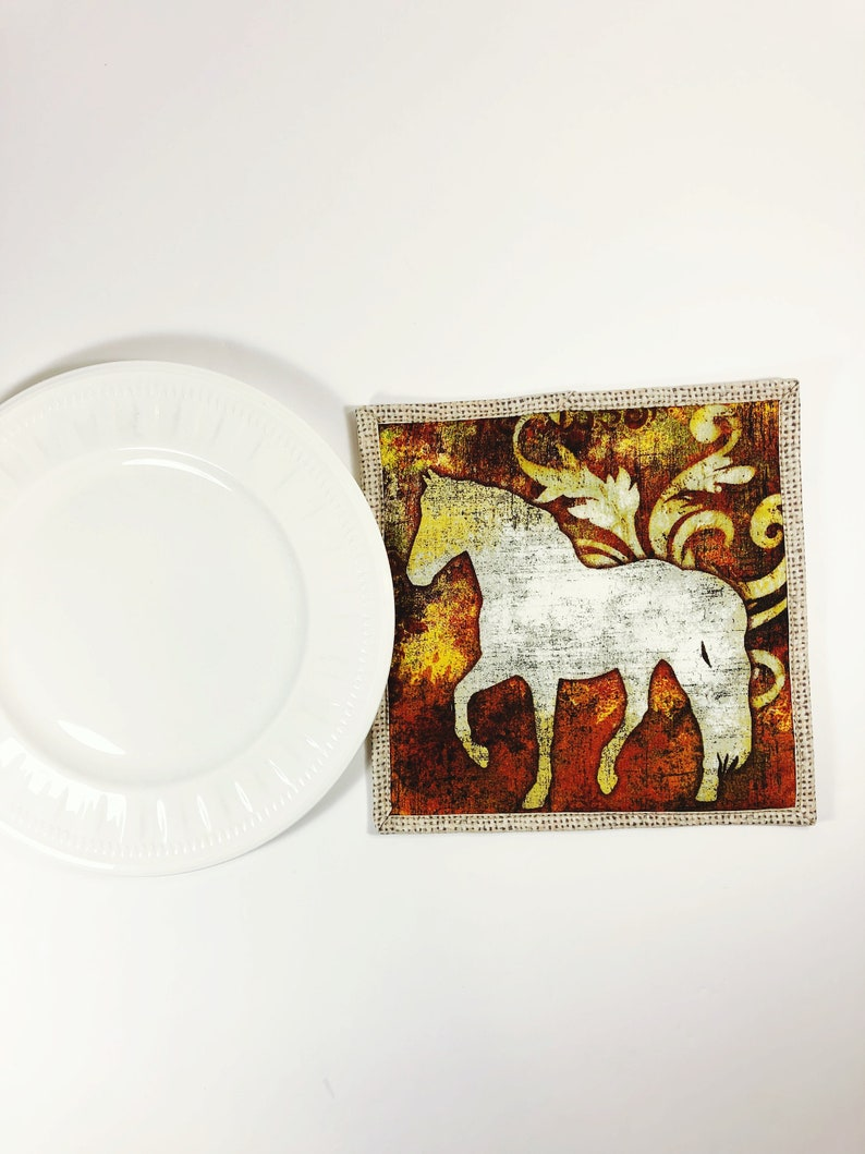 Equestrian Gift  Horse Lover Potholder  Pot Holder  Hot Pad image 0
