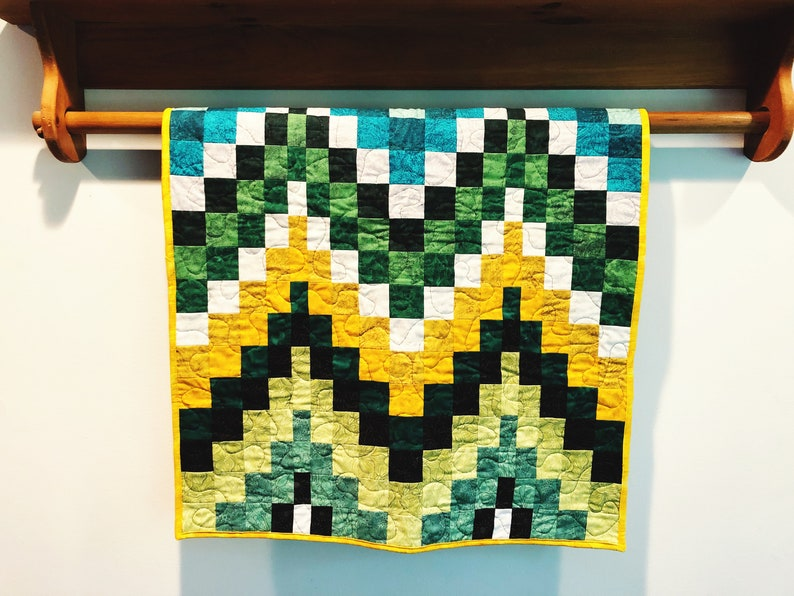 Baby Boy Quilt  Quilted Wall Hanging  Receiving Blanket  image 0