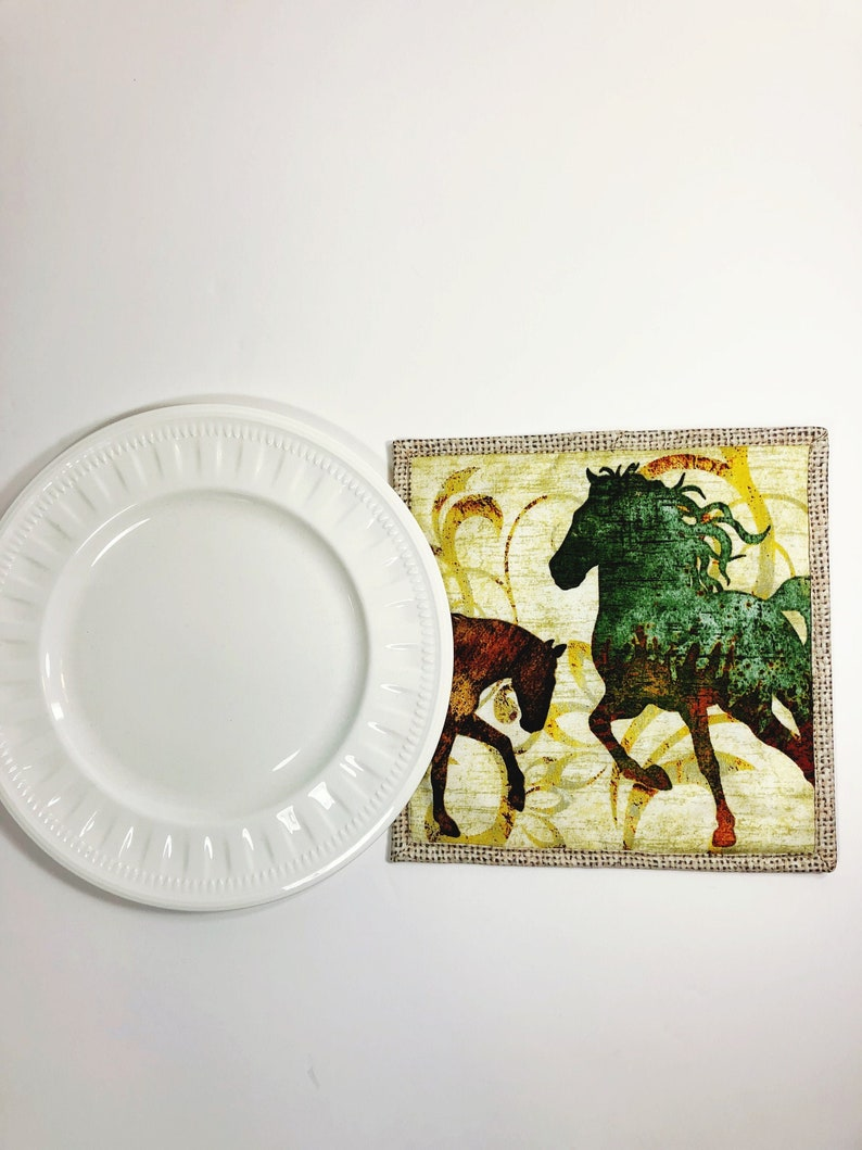Horse Lover Potholder  Equestrian Gift  Pot Holder  Hot Pad image 0