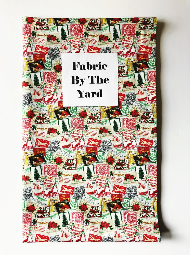 Fabric by the Yard  Christmas Fabric  Gift for Quilter  image 0