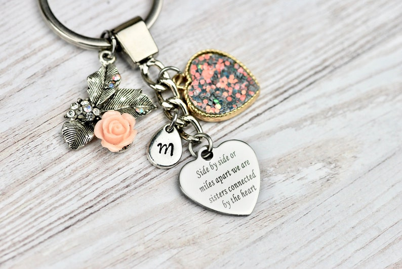 Gift Idea For Sister Personalised Keychain Best