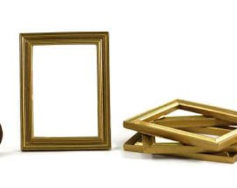 Metal frames Embellishments for papercrafting Set 2 Brass