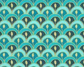 Dolls House Wallpaper 1:12 Double Scallop Oriental Japanese Pink Yellow Paper