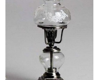 Miniature Oil Lamp Miniature Dollhouse Supplies Decor 1:12 Scale Vintage Light