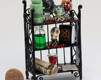 Sorcerers or Witches Filled Artisan Wall Shelf