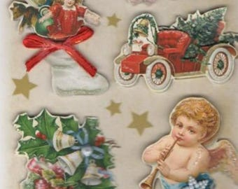 Stickers 3D sticker for decorating Christmas Angels