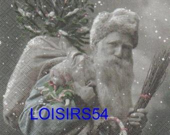 Santa Claus paper towel vintage
