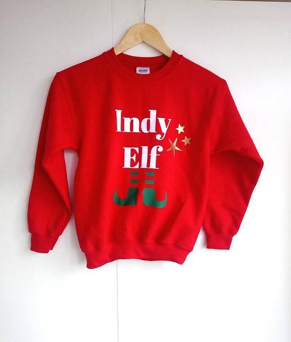 Funny Sweatshirt Your Name Elf Custom Personalised Birthday Joke tee JUMPER