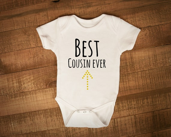 d1a14fddd914 Best cousin ever babygrow fun new baby gift baby shower