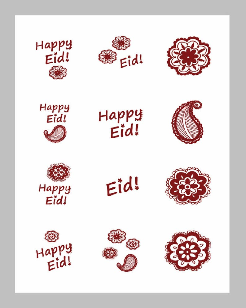 image regarding Printable Henna Designs named Printable Content Eid Family vacation Henna Models Motif 2 inch sticker options for cupcake toppers and crafts [Electronic Report for Fast Down load]