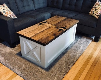 Storage Coffee Table Etsy