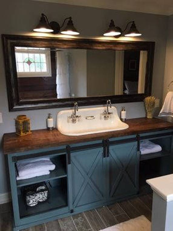 Barn Door Bathroom Vanity Free Shipping Etsy