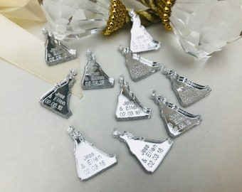 Personalised Fairytale Cinderella Princess Wedding Confetti, Mr & Mrs Table Decorations, Disney, Unique, Custom Made. Your Own Text
