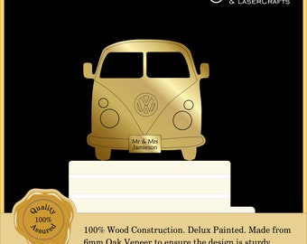 Campervan Camper Luxury Cake Topper, Weddings, Engagement Cake Decor, Rustic, Vintage . Couple, Anniversary: Various Colours