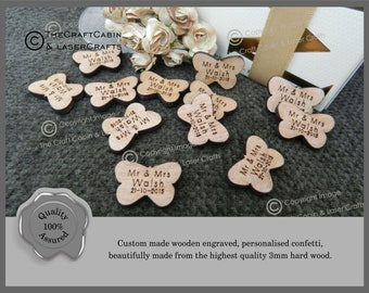 Personalised Wooden Butterflies Table Confetti, Decor, Party Decorations. Wedding Favours, Unique Butterfly Design