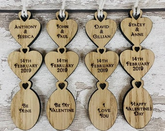 Personalised Wooden Traditional Welsh Style Valentines Love Spoon Gift/Card. His, Hers, Gay, Lesbian. Wedding, Anniversary, Birthday.