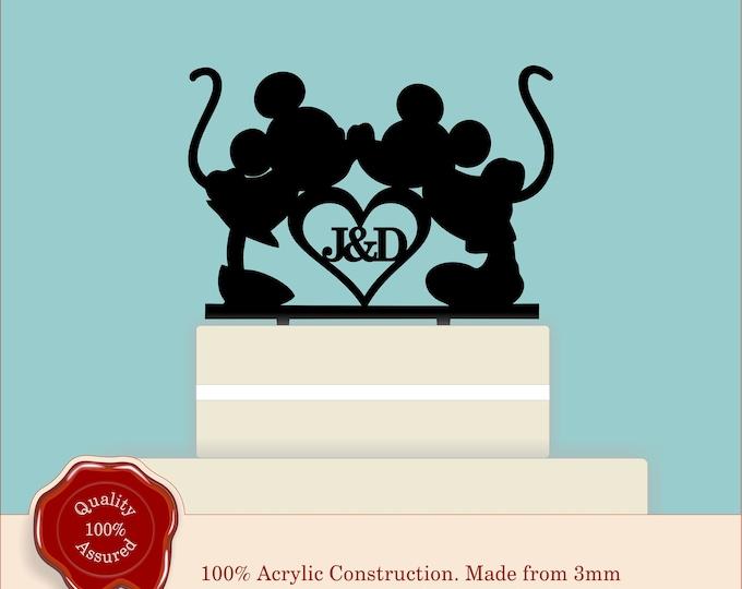 Disney Personalised Acrylic Wedding Cake Topper, Couple, Engagement, Anniversary