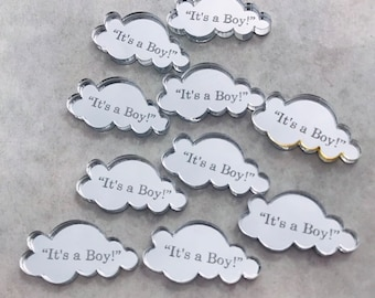 Personalised Mini Clouds Confetti, Mr & Mrs Table Decorations, Wedding, Birthday, Celebration,  Announcement, Custom Made with Your Own Text