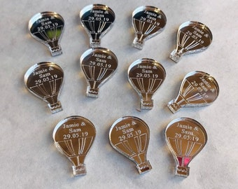 Personalised Hot Air Balloon Custom Confetti Ideal Party Decorations for Table Decor, Wedding or Birthday Favours, Party Bags etc