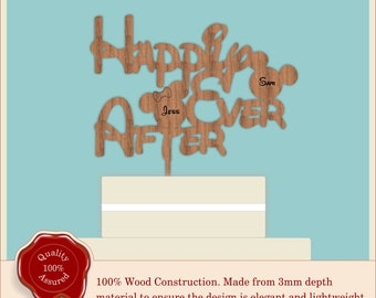 Wooden Cake Toppers