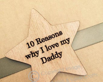 Personlised Father's Day Gift Box. Engraved Wooden 10 Reasons Why I Love My Daddy - Special Gift. Ideal for Dad, Grandad or Grampy.