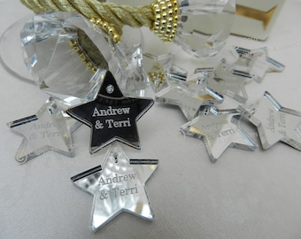 Silver Personalised, Mr & Mrs, Birthday, Table Confetti Decorations. Hearts, Hummingbird, Stars, Disney, Mickey, Minnie, Butterflies, Baby
