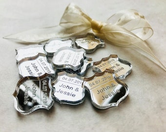 Personalised Custom Confetti American 'Route 66' Badge. Wedding Table Decor or Party Decorations. Perfect for USA, 4th July Party/Event.