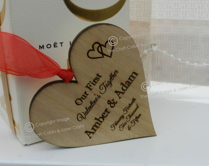Personalised Mr & Mrs Couples Wooden Hanging Heart. Valentines Day Gift. Wedding Gift Idea, Anniversary Gift