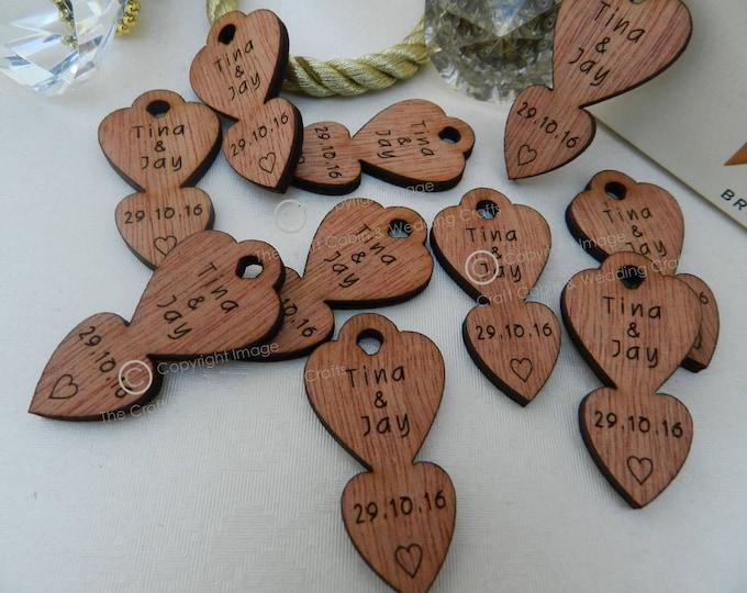 Personalised Locket Mini Love-Spoons, Favours, Table Decor, Vintage Wedding