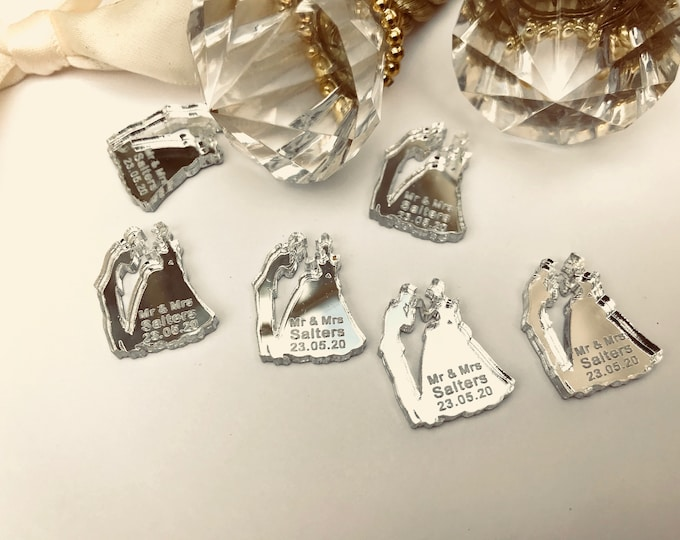 Personalised Fairytale Cinderella, Prince Charming, Mr & Mrs Table Confetti Decorations. Disney, Castle, Wedding, Anniversary