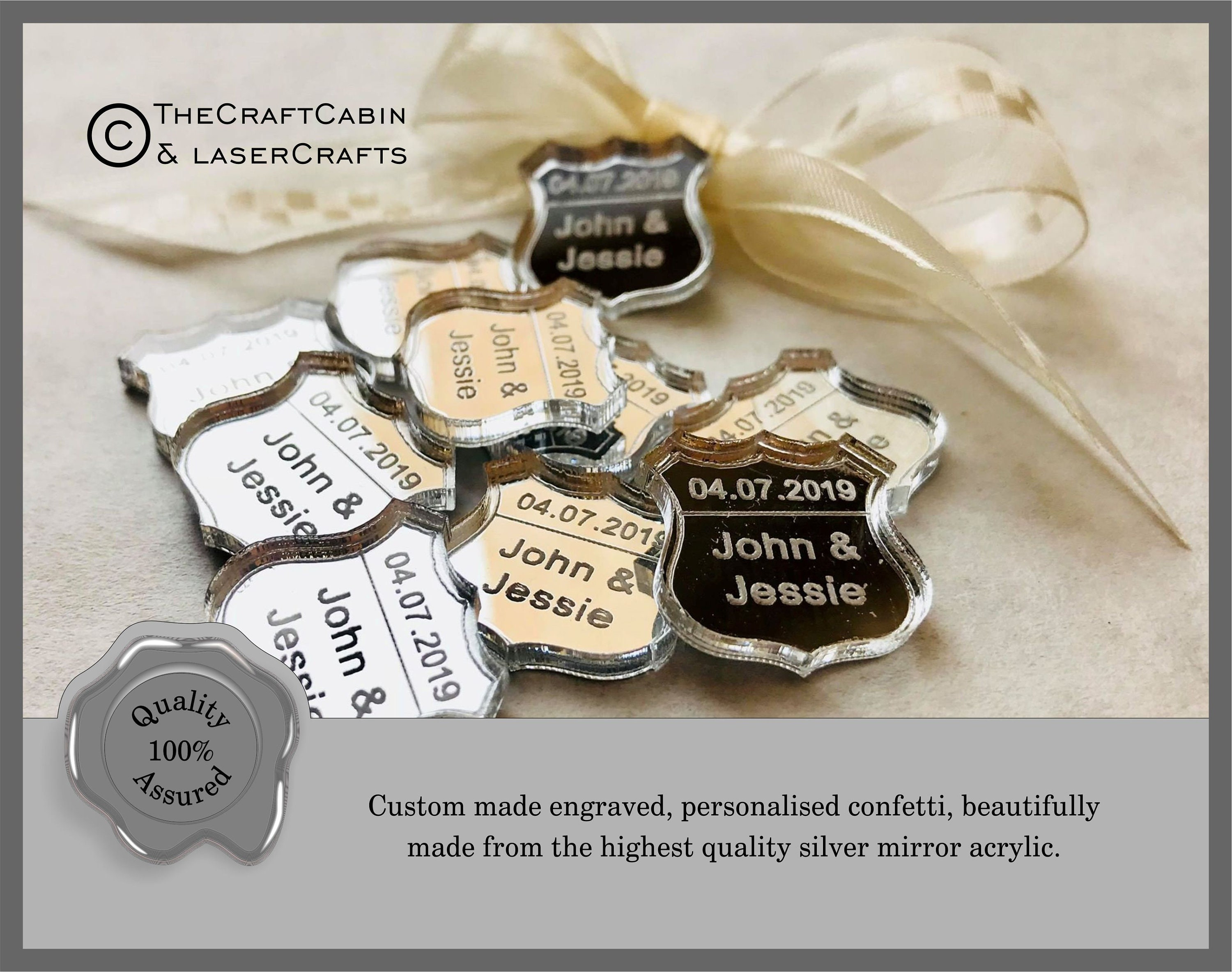 Mr Mrs Table Decor Personalised Acoustic Guitar Custom Confetti Wedding Favours