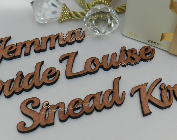Personalised Mini Wooden Guest Names, Vintage, Rustic, Party, Wedding Place Settings