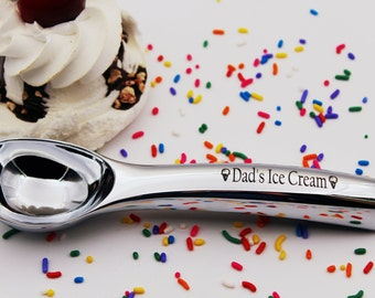 Dads Ice Cream Scoop Great Christmas Gift For An Lover Dad Custom Engraved